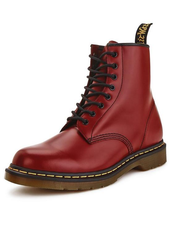 dc120f878e228 Dr Martens 8 Eyelet Mens Boots - Cherry | very.co.uk