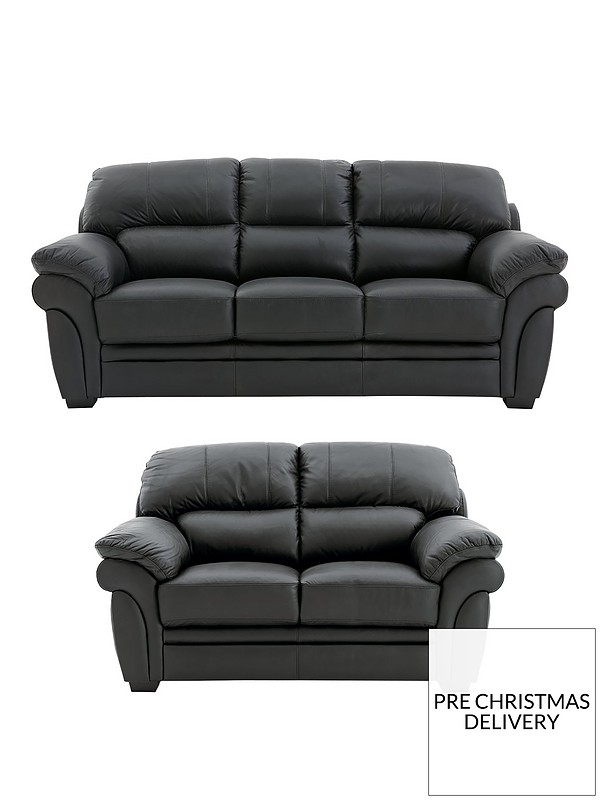 Portland 3 Seater + 2 Seater Leather Sofa (Buy and SAVE!)