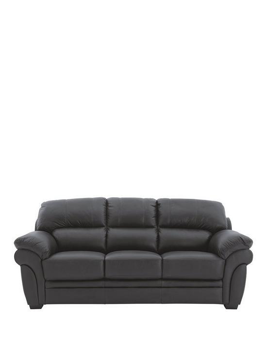 Magnificent Portland 3 Seater Leather Sofa Home Interior And Landscaping Ponolsignezvosmurscom