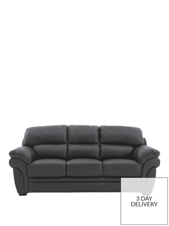 Portland 3 Seater Leather Sofa | very.co.uk
