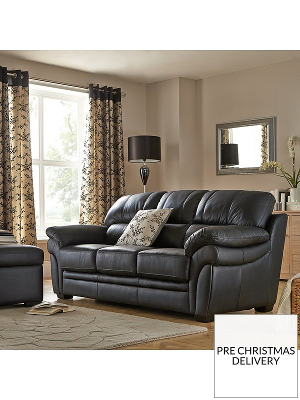 Portland 3 Seater Leather Sofa
