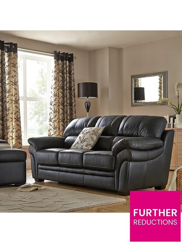 Portland 3 Seater Leather Sofa