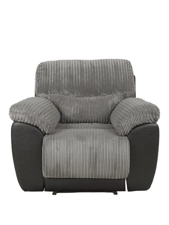 Sienna Fabric/Faux Leather Recliner Armchair | Very.co.uk