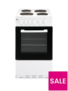 Swan SX1011W 50cm Single Oven Electric Cooker - White