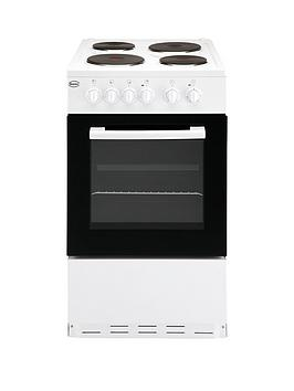 Swan Sx1011W 50Cm Single Oven Electric Cooker - White Best Price, Cheapest Prices