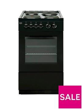 swan-sx1011b-50cm-single-oven-electric-cooker-black