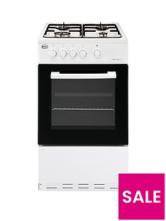 Swan SX1031W 50cm Single Oven Gas Cooker - White