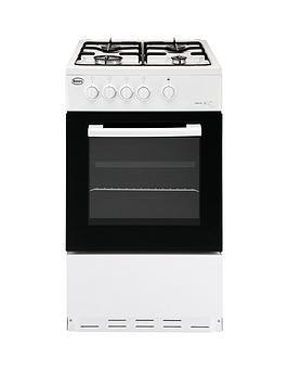 Swan Sx1031W 50Cm Single Oven Gas Cooker - White