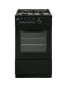 Swan SX1031B 50cm Single Oven Gas Cooker - Black