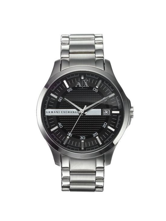 7bbb0f1f918 Armani Exchange Stainless Steel Black Dial Mens Watch