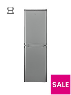 Indesit CAA55SI 55cm Fridge Freezer - Silver