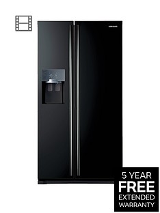 Samsung RS7567BHCBC/EU Frost-Free American-Style Fridge Freezer with Twin Cooling Plus™ System - Black