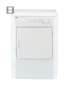 Beko DRVS73W 7kg Load Vented Sensor Tumble Dryer - White