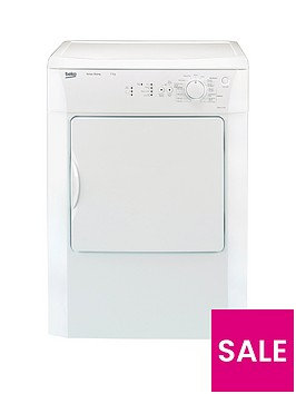beko-drvs73w-7kg-load-vented-sensor-tumble-dryer-white