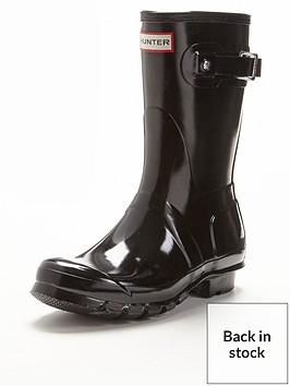 hunter-original-short-gloss-wellies-black