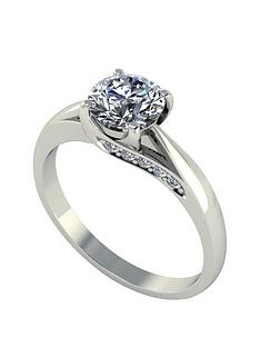 moissanite-18-carat-white-gold-11-carat-brilliant-solitaire-ring-with-stone-set-mount