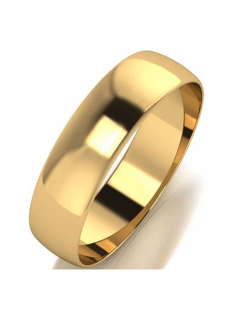 love-gold-9ctnbspyellow-gold-d-shape-5mm-wedding-band