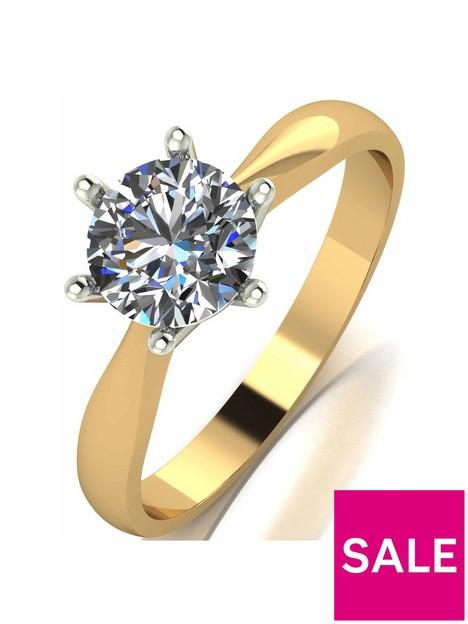 moissanite-1-carat-solitare-9-carat-yellow-gold-ring