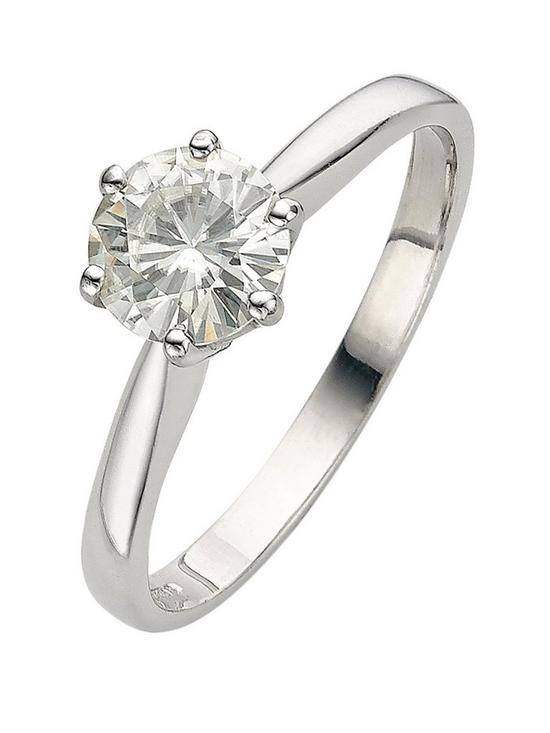 9 Carat White Gold 1 Carat Solitaire Ring