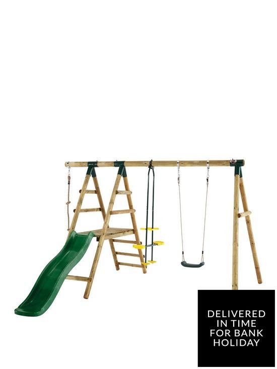 Meerkat Wooden Garden Swing Set
