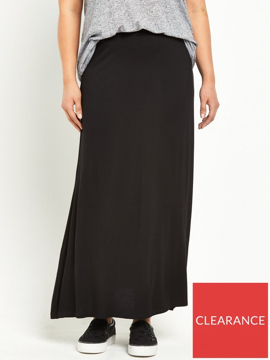 48da6615c4d V by Very Curve Jersey Maxi Skirt (Available in sizes 14-28)
