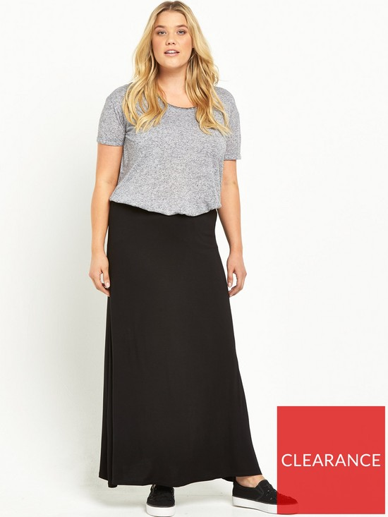 ee5d5bb2a1d ... V by Very Curve Jersey Maxi Skirt (Available in sizes 14-28). View  larger