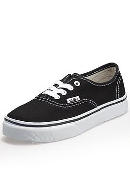 vans-authentic-junior-core-kids-trainers-black