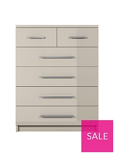 Prague Gloss 4 + 2 Chest of Drawers