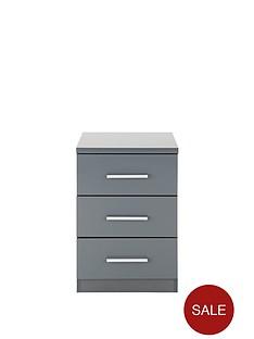 prague-high-gloss-3-drawer-bedside-chest