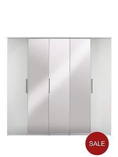 prague-high-gloss-5-door-mirrored-wardrobe