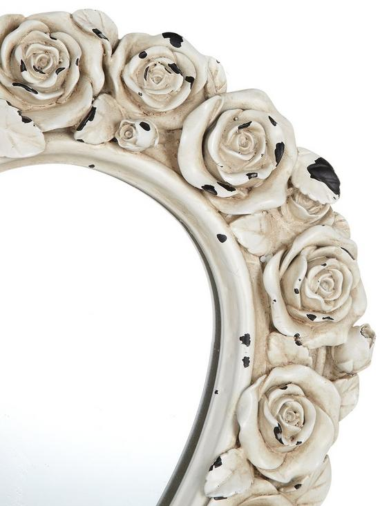 e4a620fe879 Gallery Heart Shaped Mirror with Rose Detail