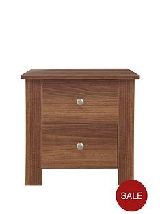 Milano 2-Drawer Bedside Cabinet
