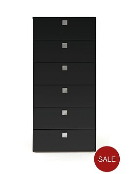 mono-glass-topped-tall-chest-of-6-drawers