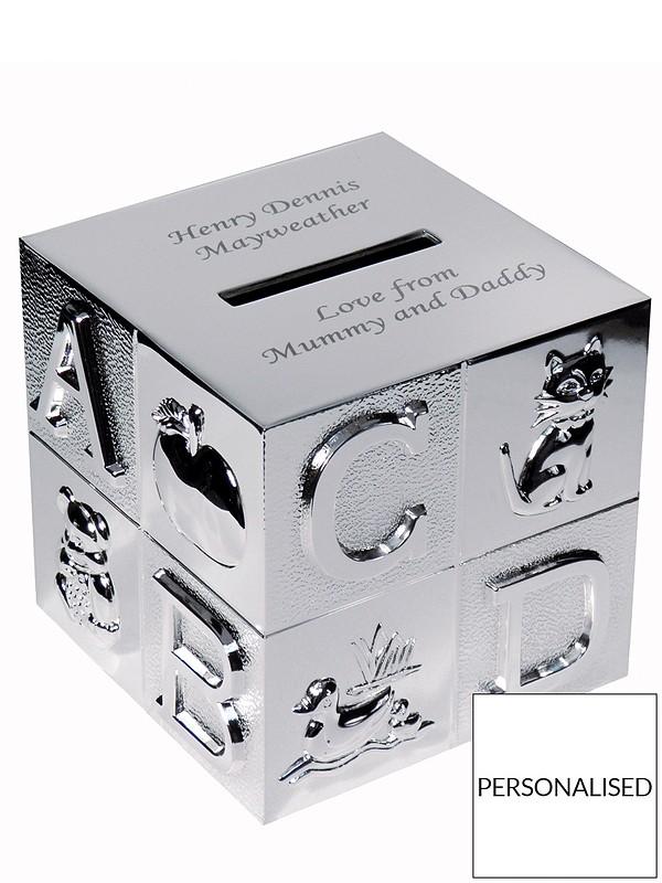 Personalised ABC Money Box   very.co.uk