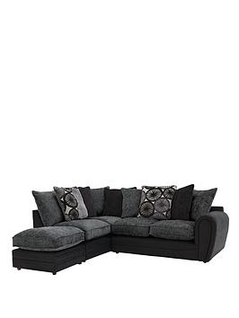 Marrakesh Left-Hand Single Arm Corner Chaise Sofa and Footstool ...