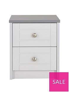 Alderley Ready Assembled 2-Drawer Bedside Cabinet