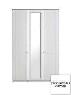 Alderley 3 Door Mirrored Wardrobe