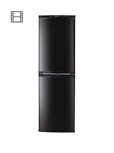 Hotpoint Aquarius HBNF5517B 55cm Frost Free Fridge Freezer - Black Best Price, Cheapest Prices