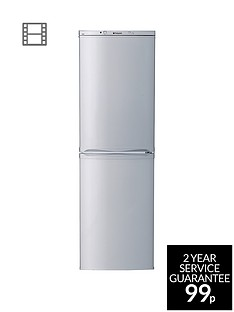 Hotpoint Aquarius HBNF5517S 55cm Frost Free Fridge Freezer - Silver Best Price, Cheapest Prices