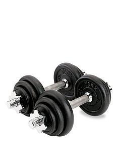 York 20kg Black Cast Iron Dumbbell Set