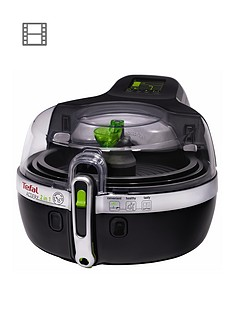 Tefal YV960140 ActiFry 2-in-1 Health Fryer, 1.5kg Capacity, 2 Cooking Zones - Black