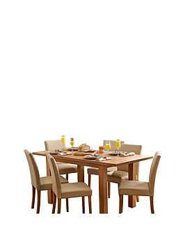 primo-120-160-cm-extending-dining-table-6nbsplucca-chairs