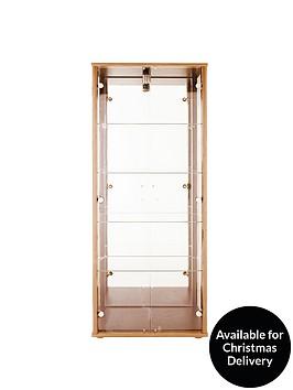 optima-double-glass-door-mirrored-display-unit-dark-brown-or-light-oak-effect