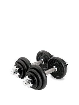 york-15kgnbspcast-iron-dumbbell-set-black