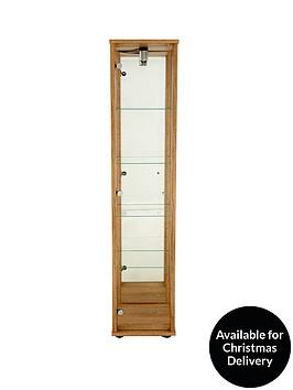 optima-glass-shelf-mirrored-back-single-display-unit-with-light-dark-brown-light-oak-effect