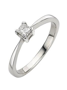love-diamond-9-carat-white-gold-4-claw-033pt-princess-cut-diamond-solitaire-ring