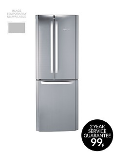 Hotpoint Day 1 FFU3DX American Style 70cm Frost Free Fridge Freezer, A+ Energy Rating - Stainless Steel