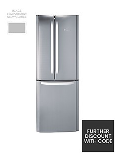 Hotpoint Day1 FFU3DX American Style 70cm Frost Free Fridge Freezer, A+ Energy Rating - Stainless Steel Best Price, Cheapest Prices