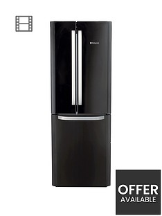hotpoint-day1-ffu3dk-american-stylenbsp70cmnbspwide-frost-free-fridge-freezer-a-energy-rating-black
