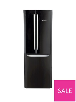 hotpoint-day1-ffu3dk-american-stylenbsp70cmnbspwide-frost-free-fridge-freezer-a-energy-rating-black